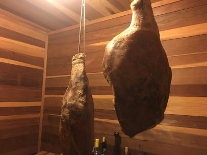 Prosciutto from a 50% Mangalitsa Boar.